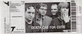 <center>Death Cab For Cutie</center>